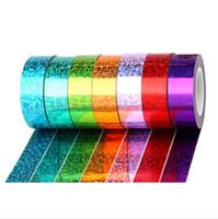 Reflexivo colorido Laser fita adesiva 15 milímetros Bordas Corners para mesas cadeiras Tapes Decore Papelaria 2016 Escritório Escola HA524