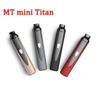 100 % 새로운 핫 세일 MT 미니 타이탄 드라이 허브 기화기 키트 무료 vape mods 1300mAh 세라믹 난방 3 온도 제어