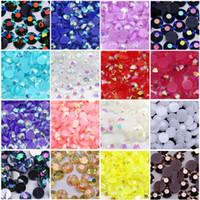 Jelly White AB Rosin Flat Rack Hrinestone Все размеры 3 мм, 4 мм, 5 мм, 6 мм в оптовом PrCie с горный хрусталь
