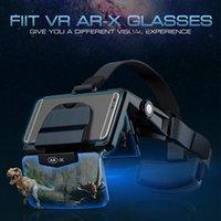 AR Occhiali 3D VR cuffie di realtà virtuale 3D occhiali di cartone Mandati Cuffie per 4,7-6,3 pollici del telefono per FIIT VR AR-X Casco