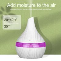300ml USB Humidificateur électrique en bois Diffuseur d'air Aroma Huile essentielle par ultrasons fabricant de brume fraîche aromathérapie pour la maison de voiture