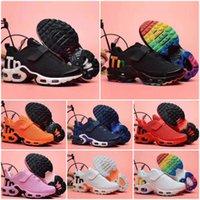 2020 새로운 플러스 어린이 캐주얼 레인보우 유아 소년 소녀 키즈 Chaussures 패션 스 니 커 즈 Laceless TN 실행 신발 28-35