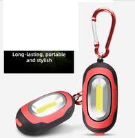 Mıknatıs açık acil anahtarlık pil el feneri LED muayene ile Mini Karabina COB Çalışma lambası 3 mod kamp Fener meşale lambalar