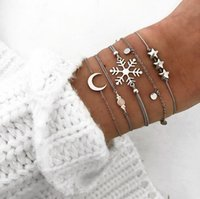 High quality new jewelry simple sequin moon bracelet creativ...