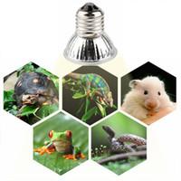 25 / 50 / 75W UVA + UVB 3.0 파충류 램프 전구 거북이 Basking UV 전구 가열 램프 양서류 도마뱀 온도 컨트롤러