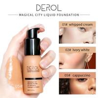 ماكياج مؤسسة DEROL كريم الأساس السائل المهنية للماء قاعدة BB كريم المخفي غير مرئية التغطية الكاملة مرطب الوجه