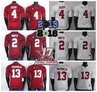 NCAA Alabama Crimson Tide Jerseys 4 Jeudy Jersey 2 fere o 13 Tagovailoa Colégio de futebol vermelho Jersey costurado 150 ANOS