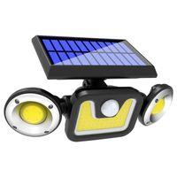 Solar LED Luz al aire libre solar de la lámpara La luz del sol Desarrollado 3 modos de sensor de movimiento PIR para la decoración del jardín de la calle lámpara de pared 10005