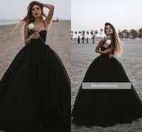 2019 Preto Prom Vestido de Noite Elegância Tulle Longo Spaghettti Partido Formal Vestido De Baile Plus Size Decote Em V Profundo Vestidos Pageant Custom Made