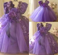 Parte de cumpleaños hecha a mano de la plaza del vestido de bola preciosa niña de las flores de manga corta de encaje de flores de tul vestido de novia de la pluma de la altura del tobillo de la muchacha