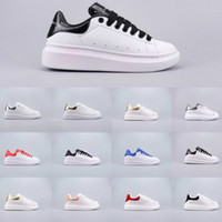 2019 McQueen Whole Network hot sale discount high quality designer shoes men and women casual shoes white shoe size 35-44