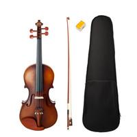 Violon acoustique 4/4 Pleine Violon Fiddle W / Bow Case Pont Jujube Bois Accessoires de haute qualité