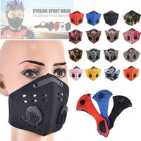 Reusable Breathable Riding Cycling Face Mask With Valve Adul...