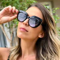 QPeClou 2019 New Brand Oversized Cat Eye Sunglasses Women Me...