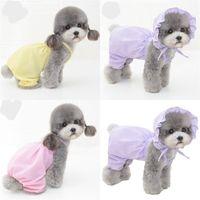 Chien Chien Plaid Jupe Chiens Costume Vêtements Puppy Pet Supplies Pantalons Couleurs Robe Muti Cat animal Up Vêtements d'extérieur 24bt C2