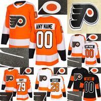 Filadélfia Flyers Jersey Perfuração Quente 79 Carter Hart 28 Claude Giroux 53 Gostisbeia 93 Voracek Personalize qualquer número de camisas de nome