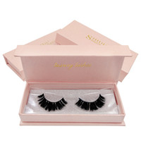 Nuevo 1 par 3D False Lashes Hand 100% Mink Eyelashes Made Full Strip Lashes Natutal Cross Fake Eye Lashes Thiick pestañas para belleza cosmética