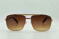 мужчины солнцезащитные очки отношение sunglass золотая рамка квадратная металлическая рамка винтажный стиль открытый дизайн классический режим металлический каркас солнцезащитные очки для Womenl