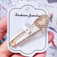Kadınlar Kız Moda Büyük Beden kolye Kalp Yıldız Yuvarlak Bow Broş Takı Aksesuar Kristal Rhinestone Charm Broş iğneler