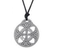 JF110 design de mode viking nordique rune pendentif collier bijoux géométrique païen corde colliers pour les femmes cadeau