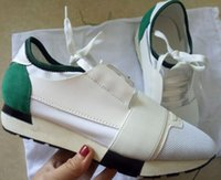 Moda lüks Tasarımcısı Sneaker Erkek Kadın Günlük Ayakkabılar Gerçek Deri Runner Kutusu US5-13 ile açık havada Koşu Ayakkabı sivri burun Irk Mesh