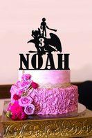 Dragon forme de gâteau, Comment dresser votre dragon, gâteau d'anniversaire Topper, pour l'anniversaire Topper personnalisé