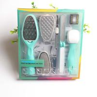 8 in 1 abnehmbare Pediküre Füße RAPS Callus Rasierer Entferner Austauschbare Fußdatei Griff Harte Tote Haut Trimmer Maniküre Schönheitspflege Werkzeuge