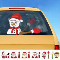 يغطي 2019 الزجاج الأمامي العالمي الجديد عيد الميلاد سانتا خلفي نافذة الشارات سيارة ممسحة ملصق عيد الميلاد مضحك الإبداعية الزجاج ممسحة