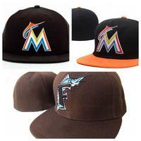 Новое поступление мода Marlins M письмо бейсболки gorras кости для мужчин и женщин высокого качества хип-хоп встроенные шляпы