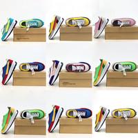Çocuk SC X Ldwafles Küçük Çocuk Koşu Ayakkabıları Erkek Kız Yeşil Gusto Bebek Sneaker Çam Ldwaffle / SC Yeni LDV Waffle Spor Eğitmenleri