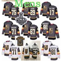 Vegas Golden Knights Ice Hockey Jerseys 67 Max Pacioretty Jersey 17 Strong 71 William Karlsson 29 Marc Andre Fleury مخيط
