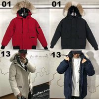 Warm Down Coat Wolf Fur Hooded Mens Thick Down Coat for Cana...