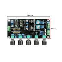 Freeshipping mais novo OPA2604 + AD827JN Preamplifier Tone Conselho LM317 LM337 Circuito Regulador de High-end Premp volume de ajuste duplo AC15V-20V