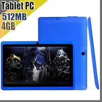 838D 저렴한 2020 정제 WiFi 7 인치 512MB RAM 4GB ROM Allwinner A33 쿼드 코어 안드로이드 4.4 용량 성 태블릿 PC 듀얼 카메라 Facebook Q88 A-7PB