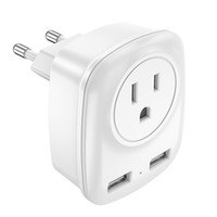 Best travel charger portable dual 2 usb port Wall Adapter wi...