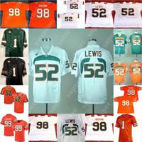 Miami Kasırgalar Futbol forması Ray Lewis 20 Reed Jim Kelly Sean Taylor Michael Irvin Jerome Brown Jimmy Graham Warren Sapp Andre Johnson