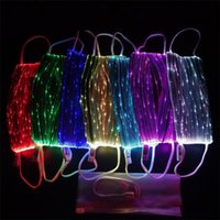 Yeni Cadılar Bayramı makss Yanıp sönen LED Övgüler / Taraflar / Karnaval / Masquerade Tasarımcı Mask5975 İçin Renkli Parlak Erkek / Bayan Light Up Maskeler Maske