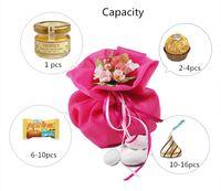 Yeni Stil Düğün Favor Şeker Hediye Çantaları Yapay El Yapımı Çiçek Buketleri Için Parti Için Masa Süslemeleri Malzemeleri