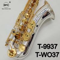 اليابان ياناجيساوا تينور ساكسفون T-WO37 الفضة والذهب المهنية تينور ساكس مع حالة القصب الرقبة لسان الحال العلامة التجارية الجديدة