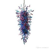 Freies Verschiffen 100% Hand geblasenem Glas Murano Art Süßigkeit-Farben-Kronleuchter Modern Home Große Kronleuchter Beleuchtung