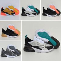 Nike air max 270 2019 New kids sport shoes Running Snakers preto cinza Moda infantil esporte top quality Shoes tamanho 28-35