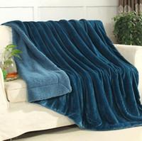 Neue Hohe Qualität Winter Lamm Kaschmir Decke A-B Einfarbig Plus Dicke Doppelschicht Decke Einzel Doppel Wärmer Decke Großhandel
