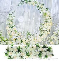 100cm DIY wedding flower wall arrangement supplies silk peon...