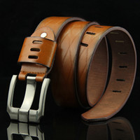 Mens Genuine Leather Man Belt Cinta de Luxo Cintos Masculinos Para Homens Nova Moda Vintage Pin Buckle Belt