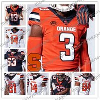 Syracuse orange 2019 New Custom irgendein Name Zahl genähte Navy White # 3 Christopher Fredrick 13 Tommy DeVito Neal McNabb NCAA Football Jersey