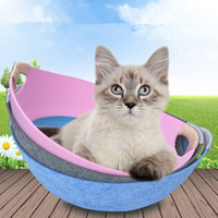 Mascota Cama de gato casa verano c cama mascota fieltro nt mat extraíble y universal gato casa gato maceta
