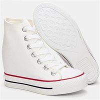 Vente-Superstar Hot Wedges Chaussures de toile Femme plate-forme cachée Hauteur du talon Chaussures augmentation précarisés chaussure femme