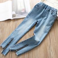 e8ddac604ccb New Arrival. Fashion 2019 Spring Summer Girls Jeans zipper Denim Kids  Casual Pants Children Jeans kids designer clothes girls Long Trousers A2858