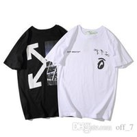 Womens designer t shirts New OFW urban graffiti half arrow s...
