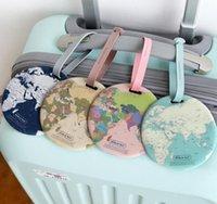 Étiquette de bagage Carte globale Silice Identifiant de valise Adresse Identifiant du titulaire Bagage Étiquettes de embarquement Accessoires de voyage portatifs